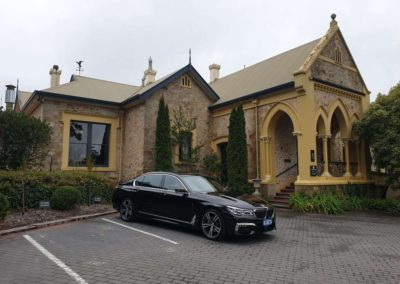 A Grandeur limousine transfer from Adelaide airport to one of Adelaide most prestigious restaurants - Mt Lofty House