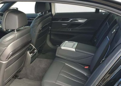 The 7 series BMW is very popular with customers because of the extended leg room