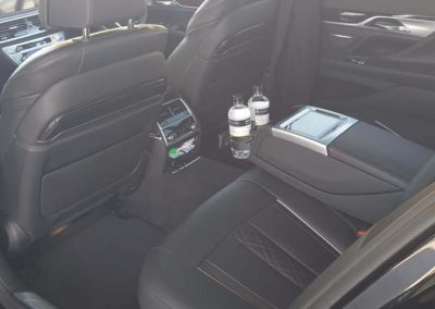 BMW 7 series showing the highest level of interior creature comforts